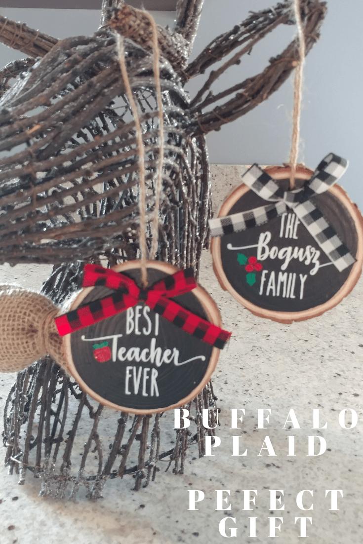 Farmhouse Glitter Teacher Ornaments Wood Christmas Ornaments Diy Christmas Gifts