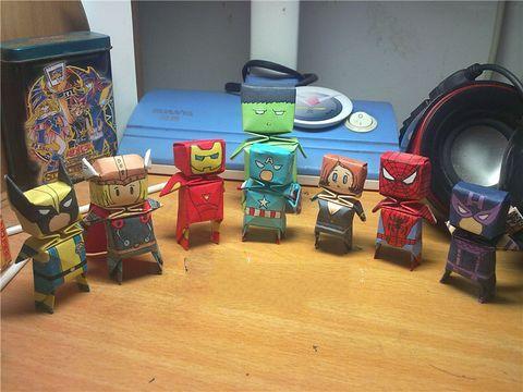 3D superman heros team