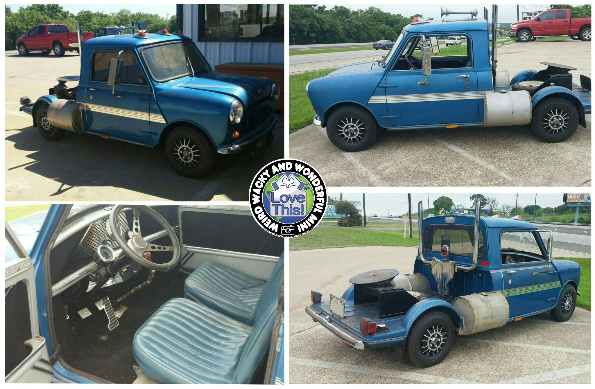 When It Comes To Modified Minis I Love A Mini Semi Truck Build So Cool
