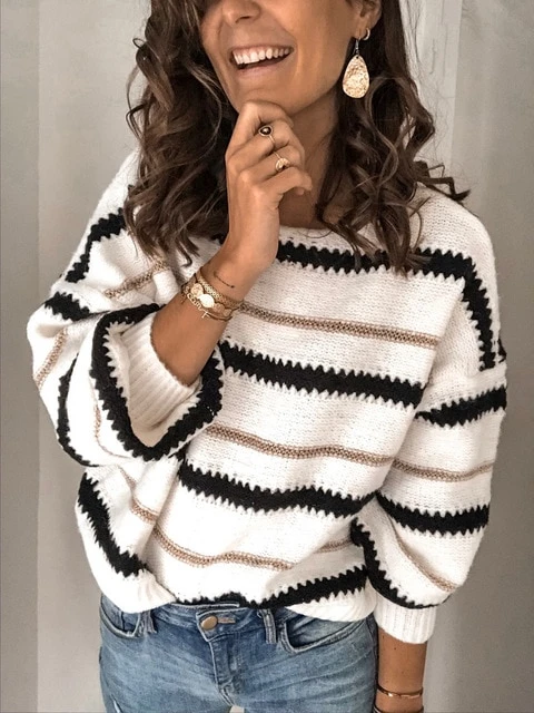 Fashion Winter Pullover Jumper Knitted Sweater in 2020