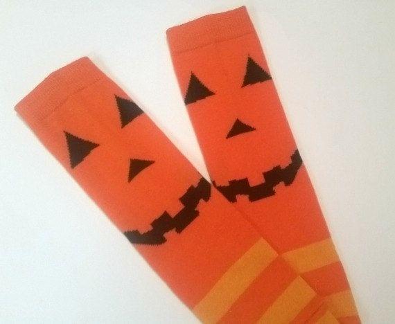 halloween leg warmers pumpkin baby legwarmers by twiceasnicebaby