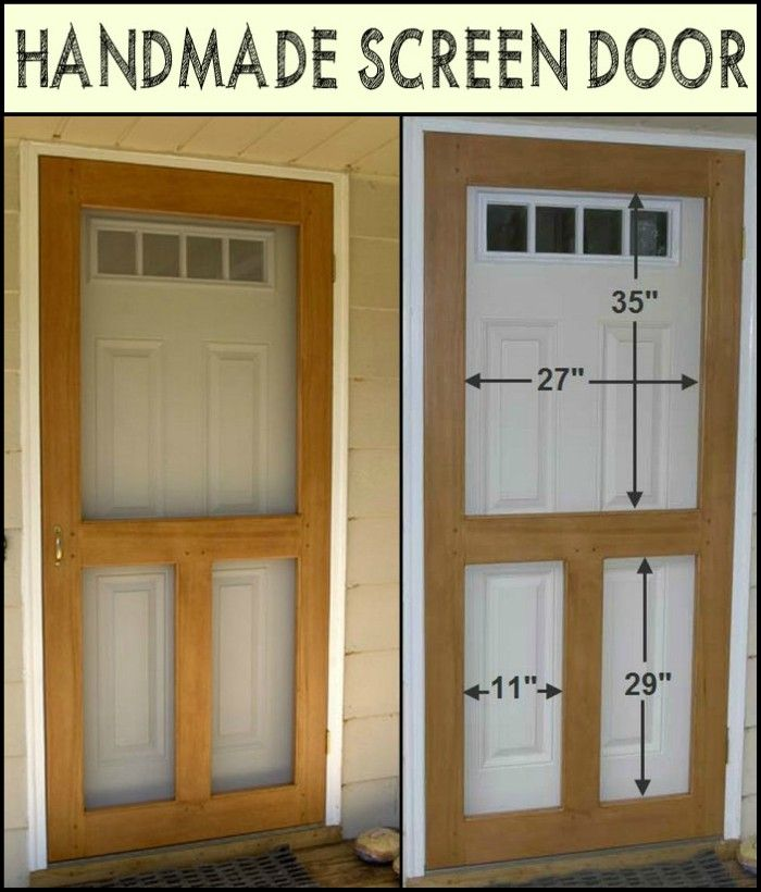 This Handmade Screen Door Keeps The Bugs Out and Allows The Fresh Air in & This Handmade Screen Door Keeps The Bugs Out and Allows The Fresh ...