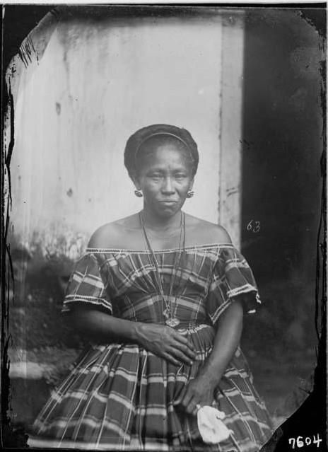 Mulher de Manaus vestida à moda europeia - Missão Thayer. O Livro Viagem ao Brasil (1865-1866)