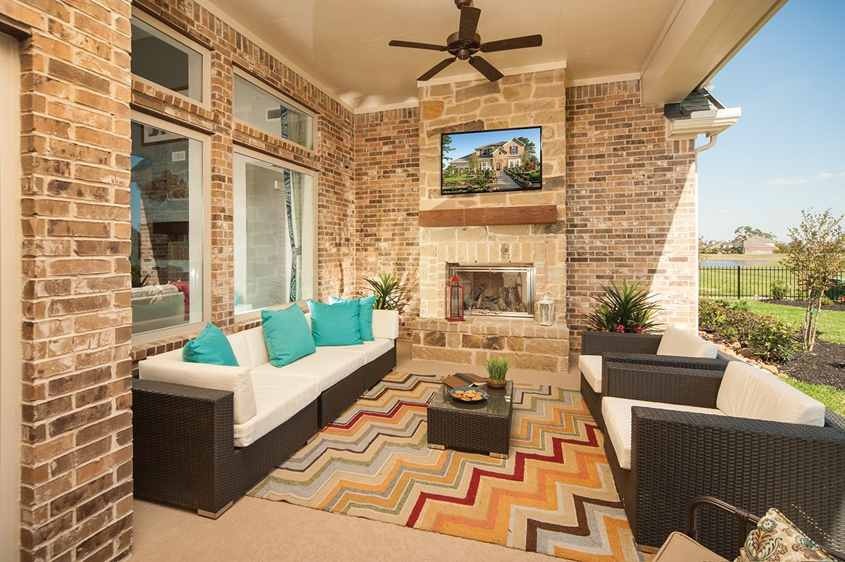The Glenmeade in Spring, TX. Watch the game in your ... on Outdoor Living Space Builders Near Me  id=13652