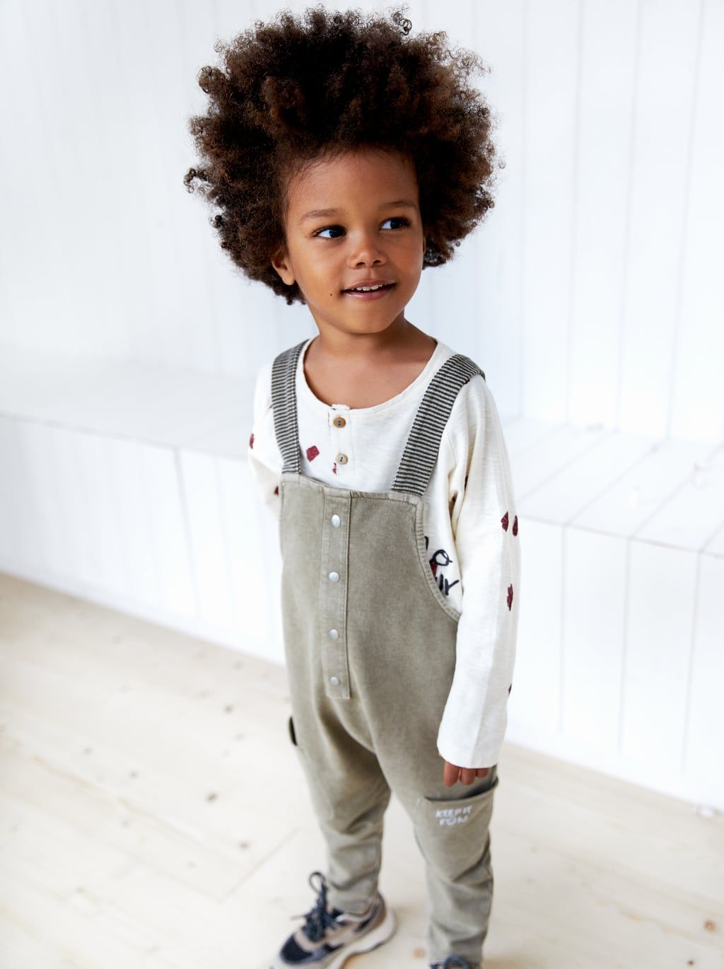 0a6aec7ba32 Image 1 of STRIPED OVERALLS WITH STRAPS from Zara
