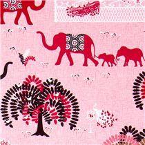 Michael Miller fabric Parade Day elephant family tree