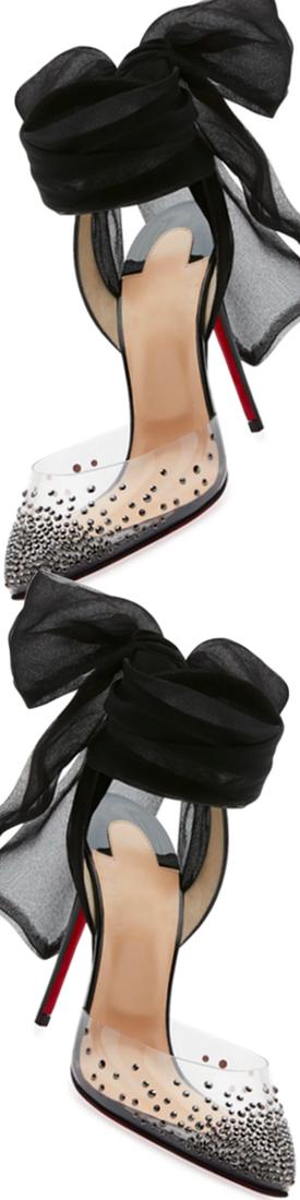 a4e21a10d36 Christian Louboutin Miragirl Ankle-Wrap Red Sole Pump, Black | SHOES ...
