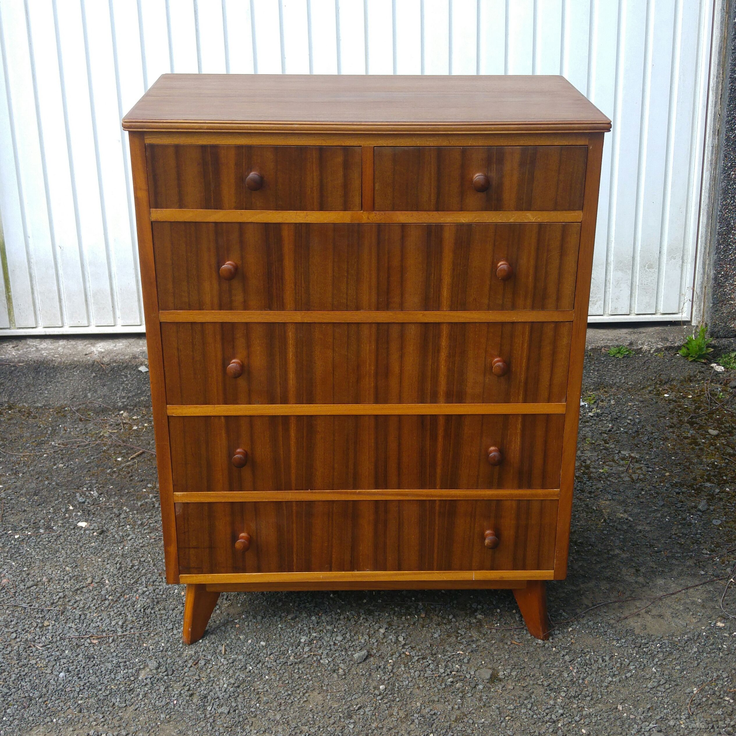 Cumbrae Range Large Chest Of Drawers In Walnut And Sycamore