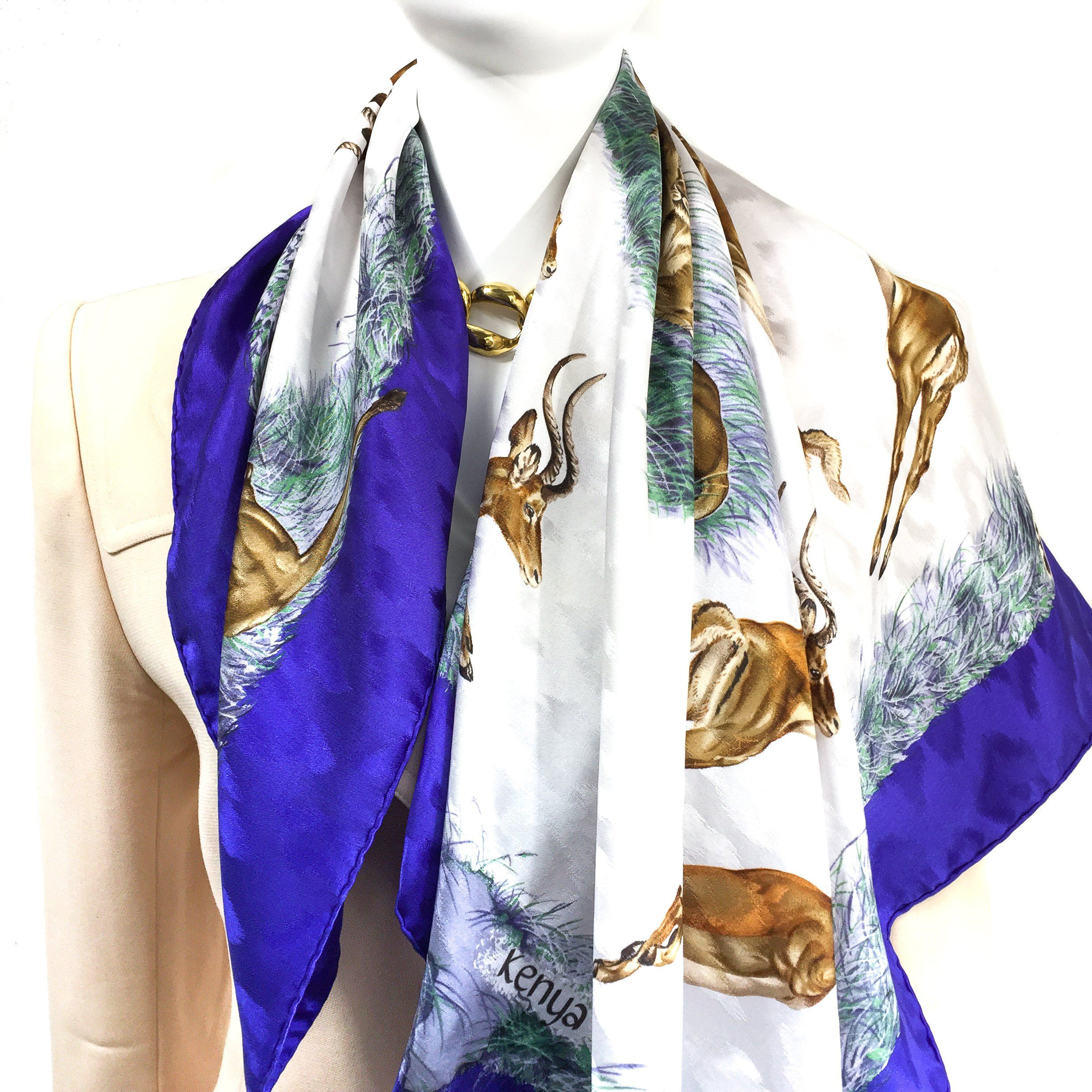 Kenya Hermes Silk Jacquard Scarf by Robert Dallet   Products   Silk ... 9a5ba5e58e5