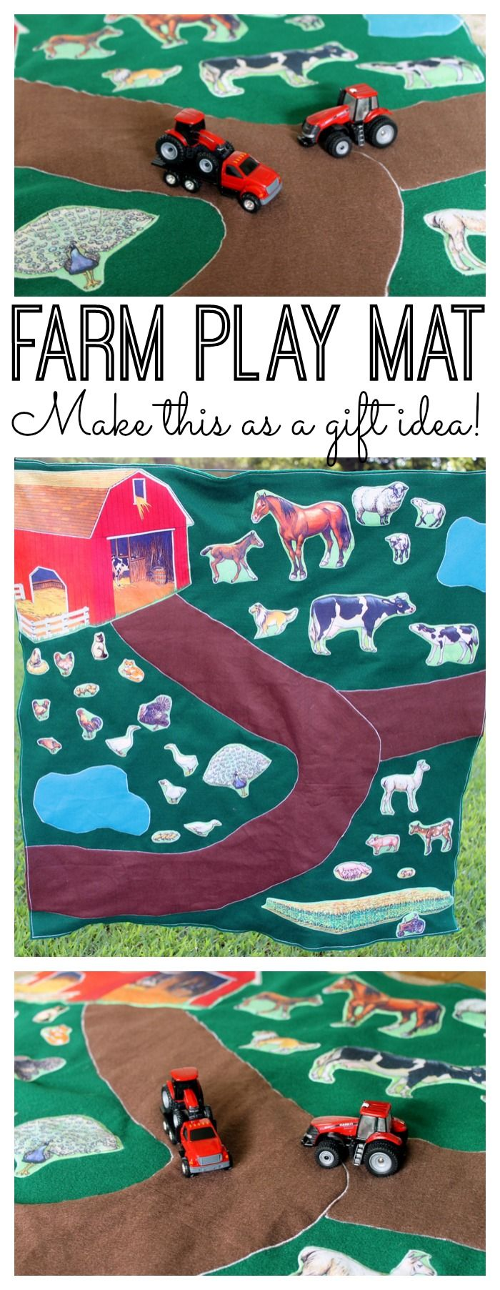 DIY Farm Play Mat Handmade Gift Idea Sewing projects for