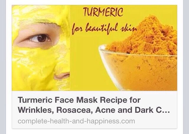 Turmeric Face Mask Recipe for Wrinkles, Rosacea, Acne and ...