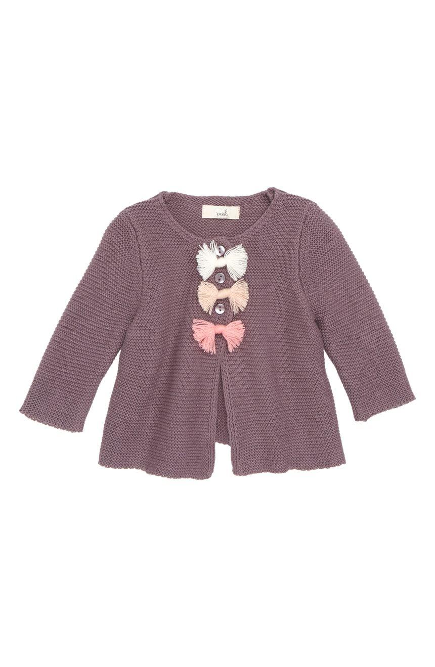 f61ec3545 Peek Violet Cardigan (Baby Girls)