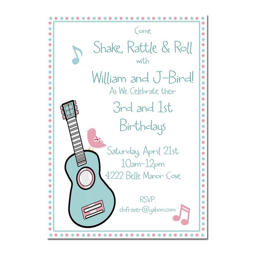 Music Birthday Party Invitation | Party Ideas | Pinterest | Party ...
