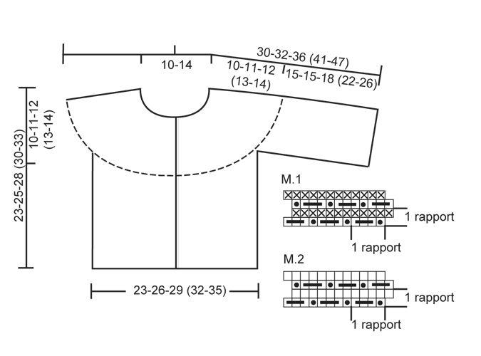 Conjunto DROPS de: Pantalón y saco con pechera redonda y patrón de ...