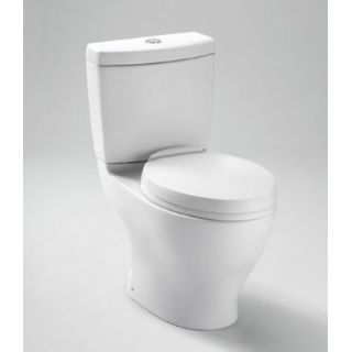 Toto Ct412f 11 Colonial White Dual Flush Elongated Toilet Bowl Only Less Tank And Seat With 12 Rough In From The Aquia Series Dual Flush Toilet Small Toilet Toto Toilet