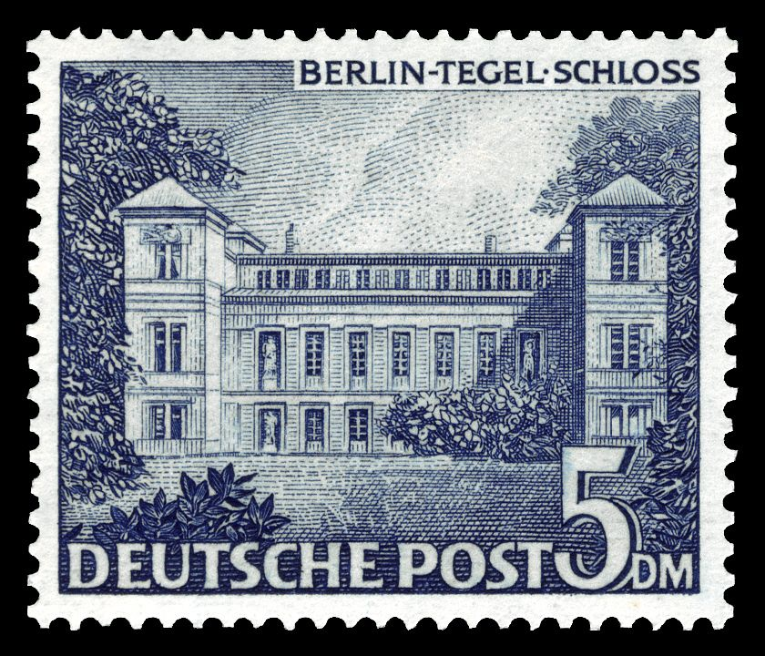 Deutsche Post 1949 Tegeler Schloss Deutschland burgen