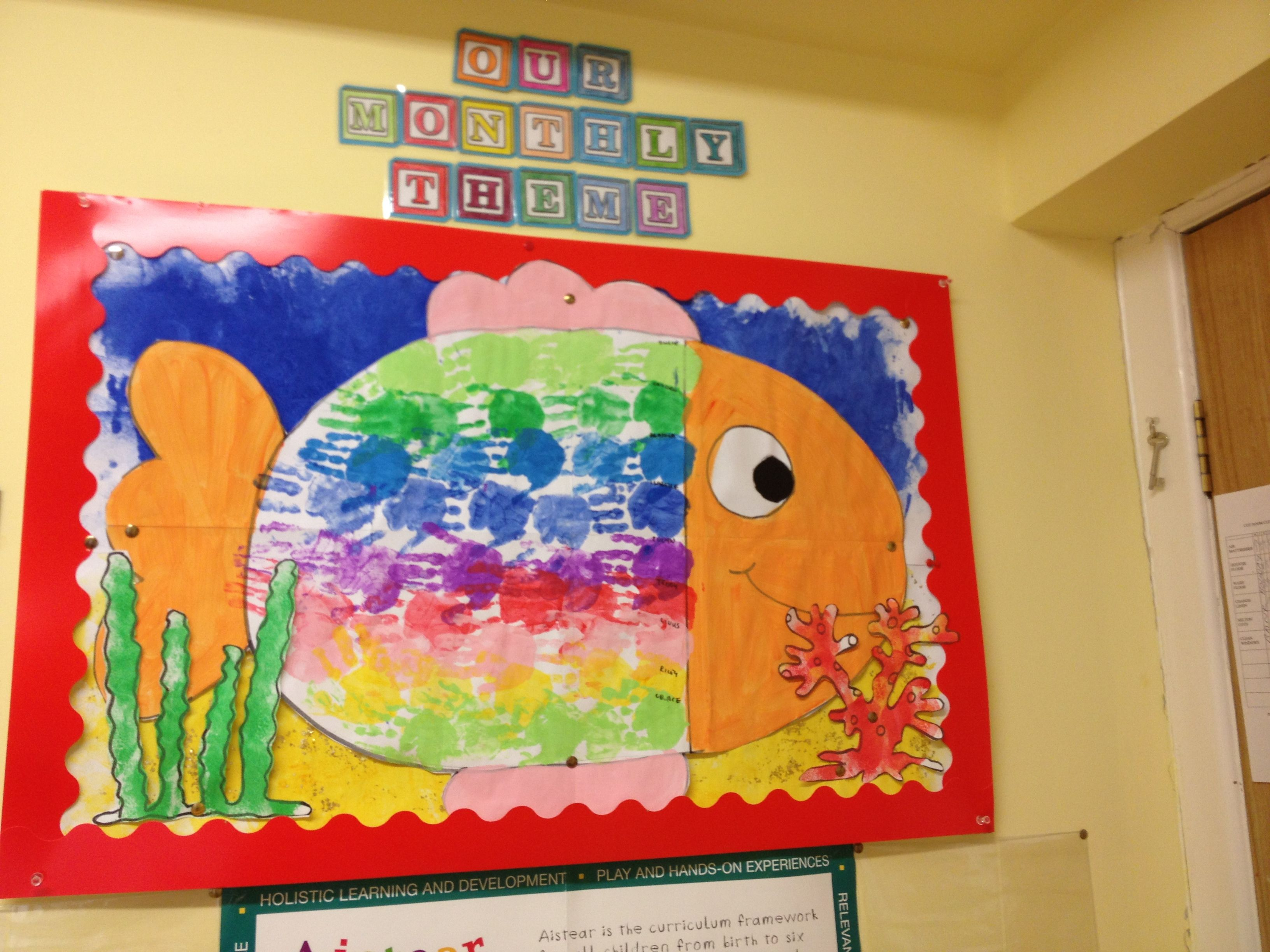 Handprint Fish For Under The Sea Theme Each Child Paints Their Hand A Different Colour To
