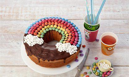 Geburtstags-Regenbogenkuchen #geburtstagskuchenkinder