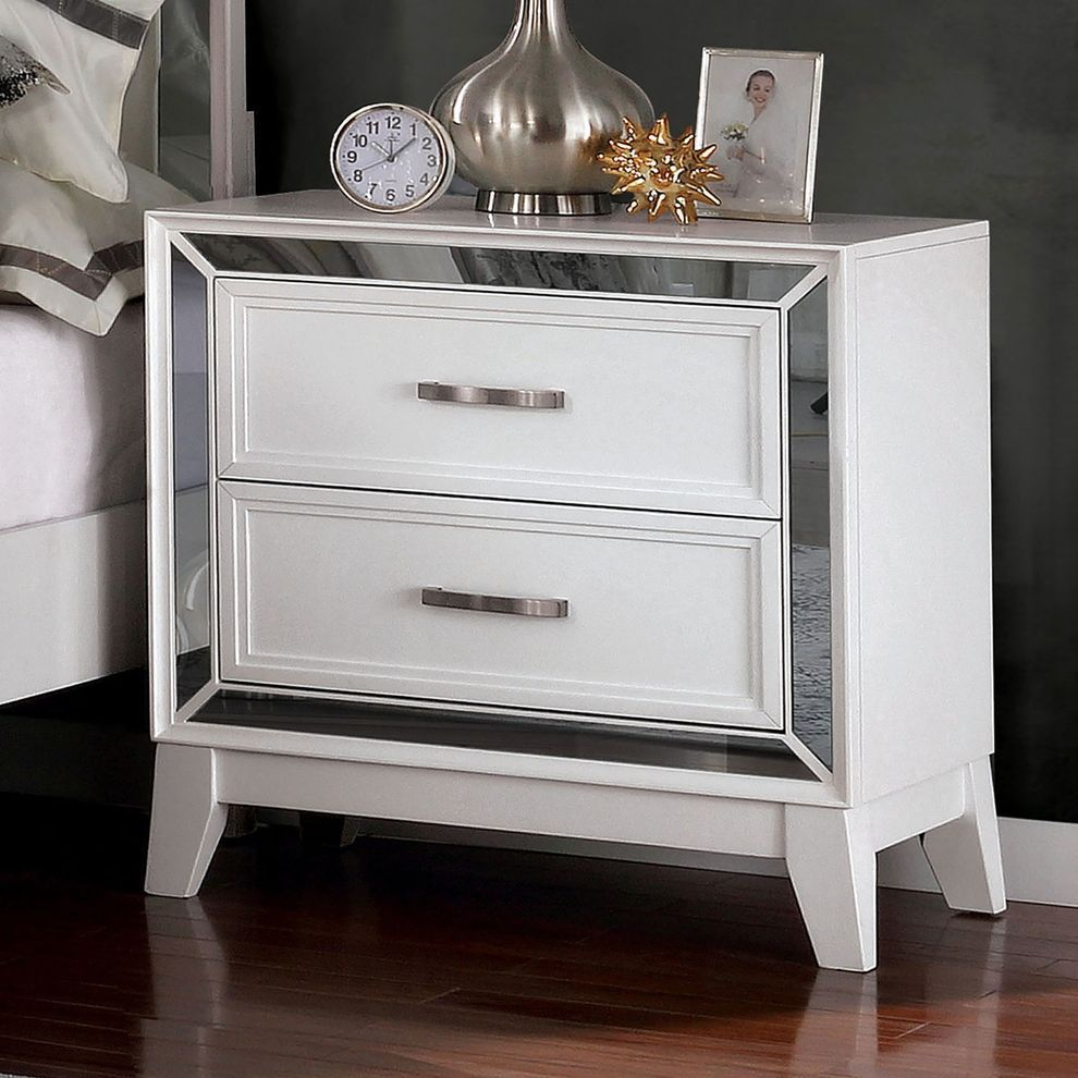 Lamego Queen Size Bed Foa7887 Furniture Of America Modern Beds In 2020 Contemporary Nightstand Drawer Nightstand 2 Drawer Nightstand