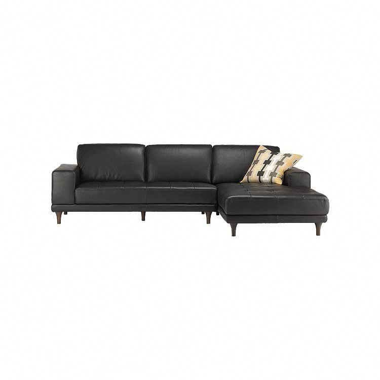 Modern, tailored leather sectional, sofa and ottoman - Seattle ...