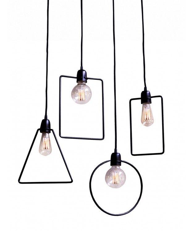 Set de 4 lamparas colgantes scott hierro pinterest - Lamparas de hierro ...