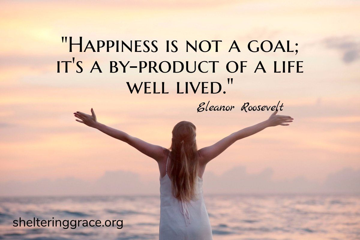 A Life Well Lived Quotes Happiness Is Not A Goal It's A Byproduct Of A Life Well Lived