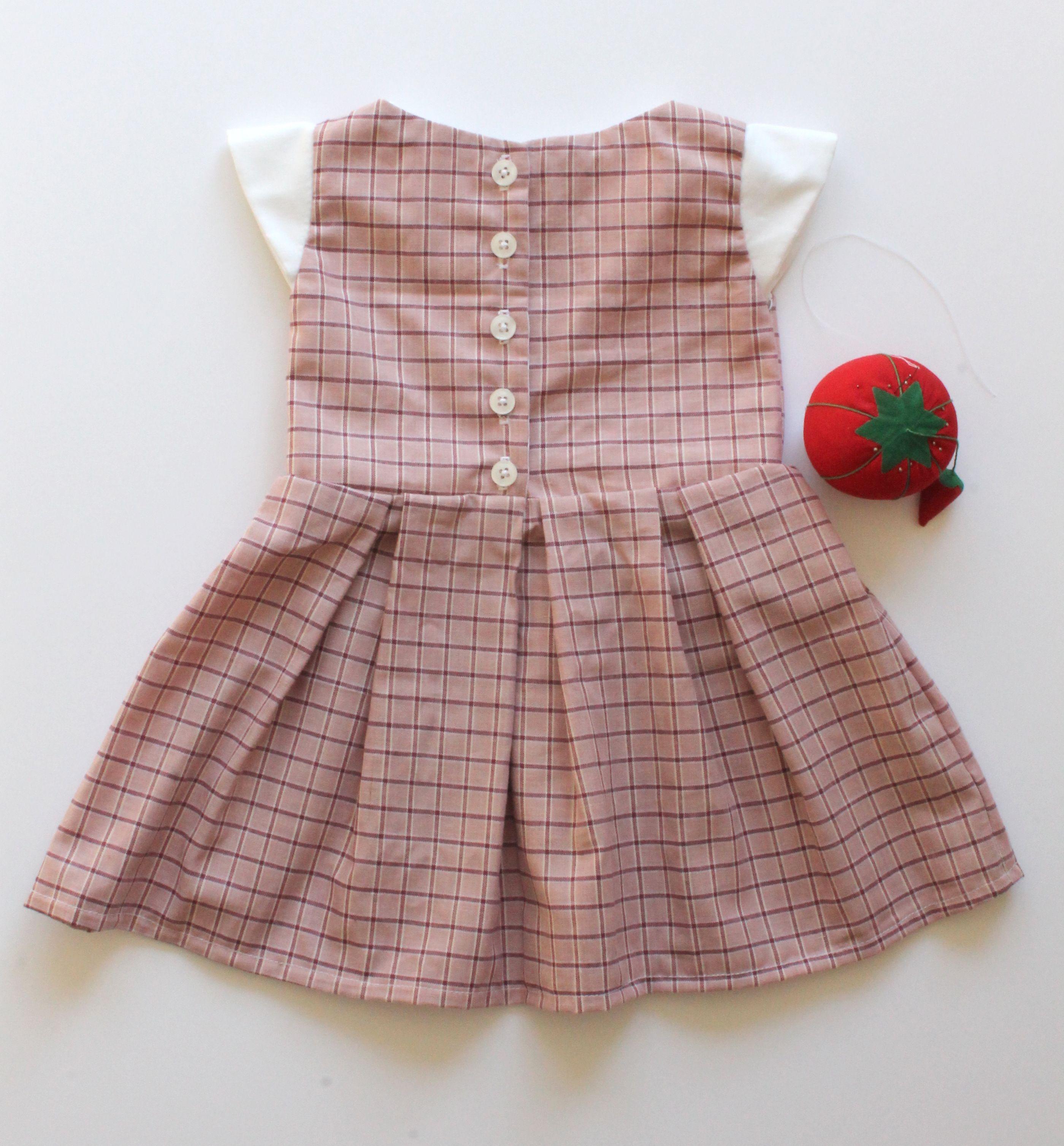 Baby Girl Pink Plaid Tartan School Jumper Dress or Top 3 6 Month