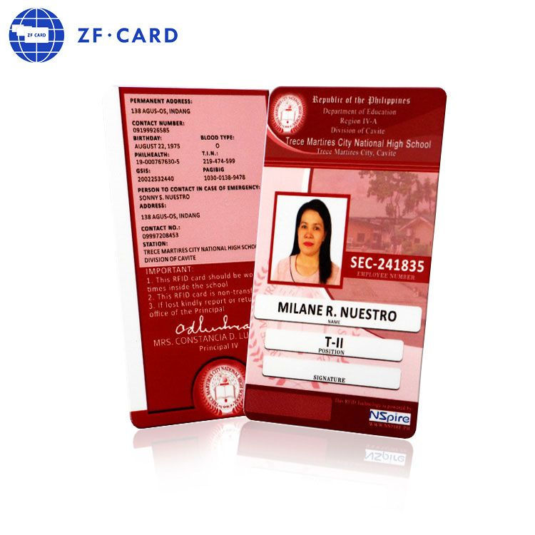 Poly Card Pvc Card Plastic Card Plastic Business Cards Plastic Card Employee Id Card