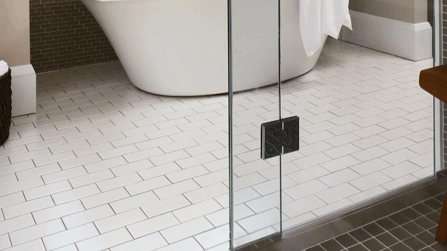 You Take A Shower And You Get Cleanyour Shower Door Not So Much Beauteous Bathroom Floors Design Inspiration