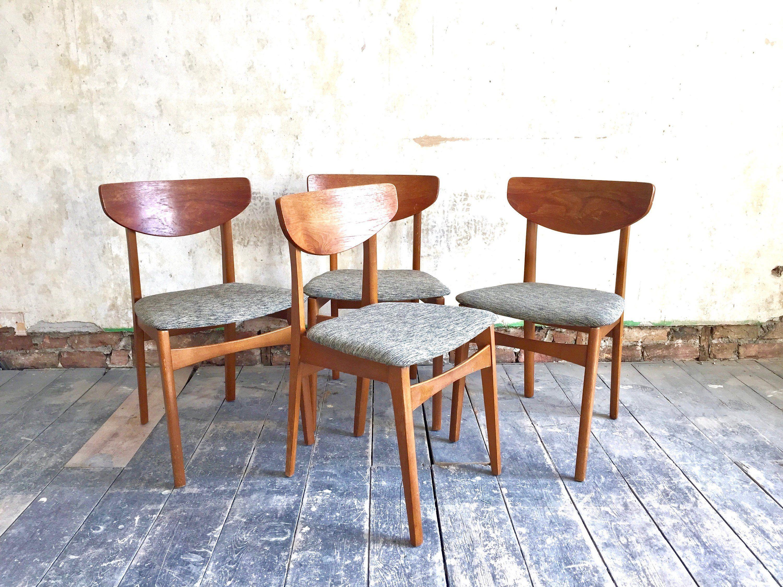 Mid Century Danish Chairs Vintage Danish Dining Chairs Retro