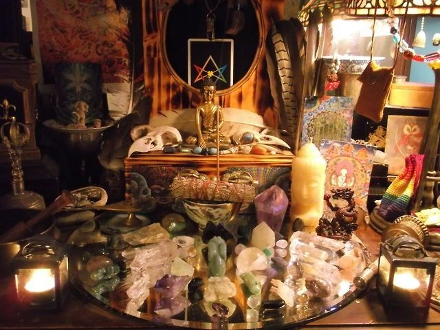 Gorgeous Alter Magical Crystals And Stones And Their