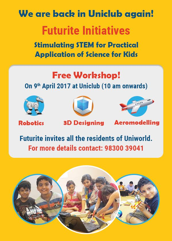 Free Workshop On Robotics 3dprinting And Aeromodelling 9th