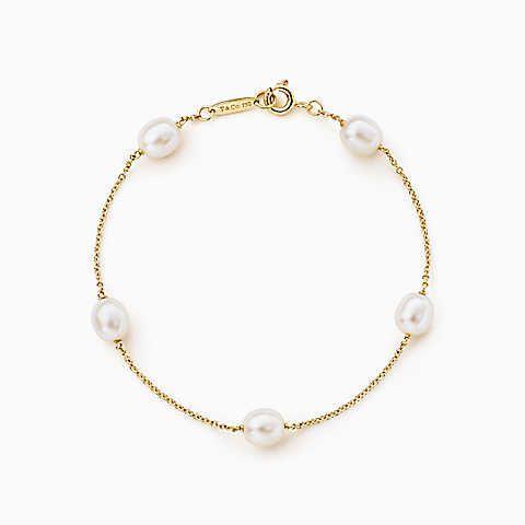 Elsa Peretti Pearls by the Yard bracelet in 18k rose gold, medium Tiffany & Co.