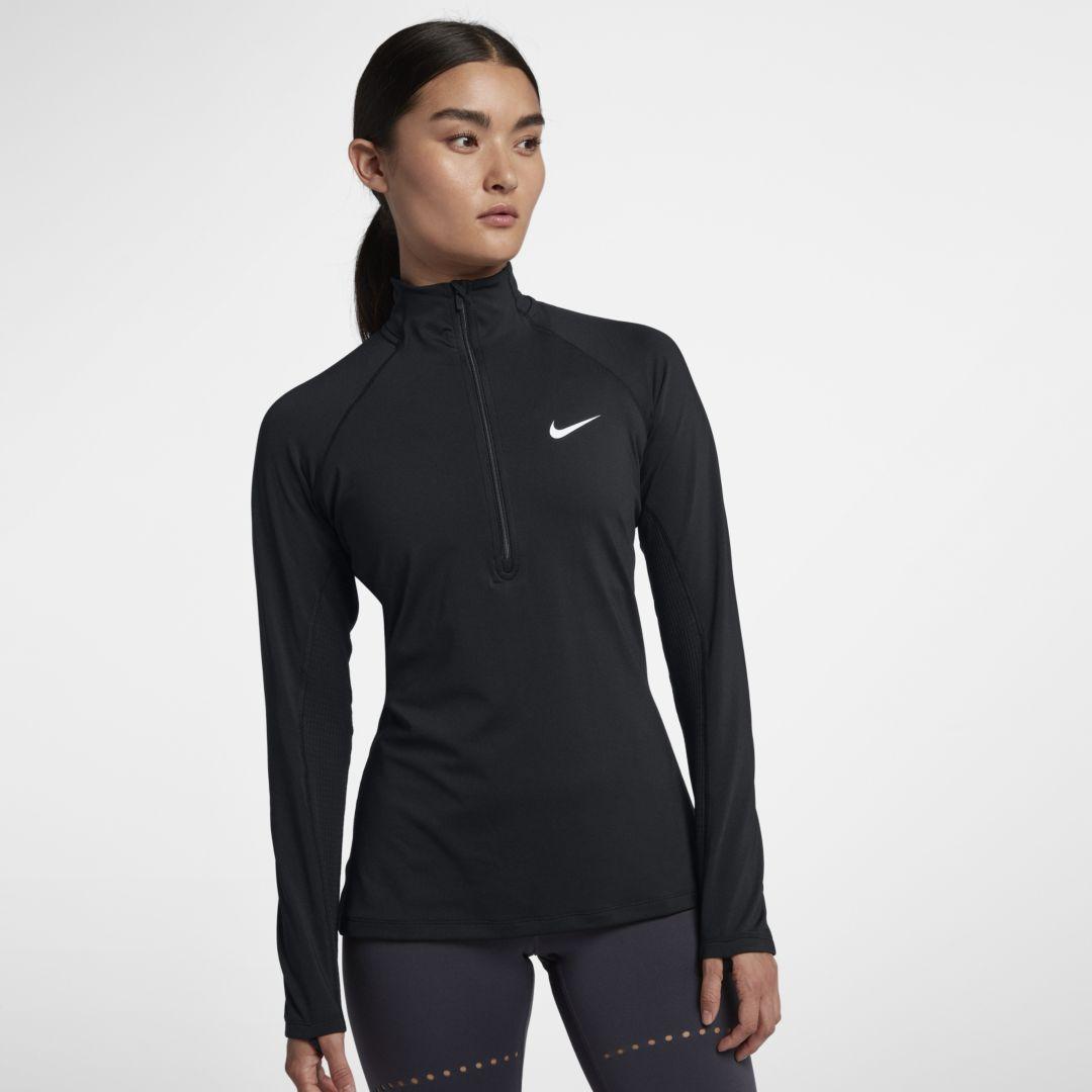 cdf03bc28 Nike Pro Warm Women's Long Sleeve 1/2-Zip Training Top Size 2XL (Black)