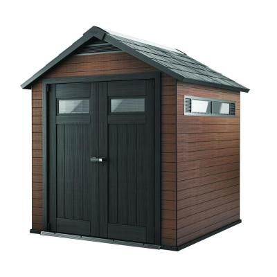 Keter Fusion  Ft X  Ft Wood And Plastic Composite Shed - Home depot small sheds