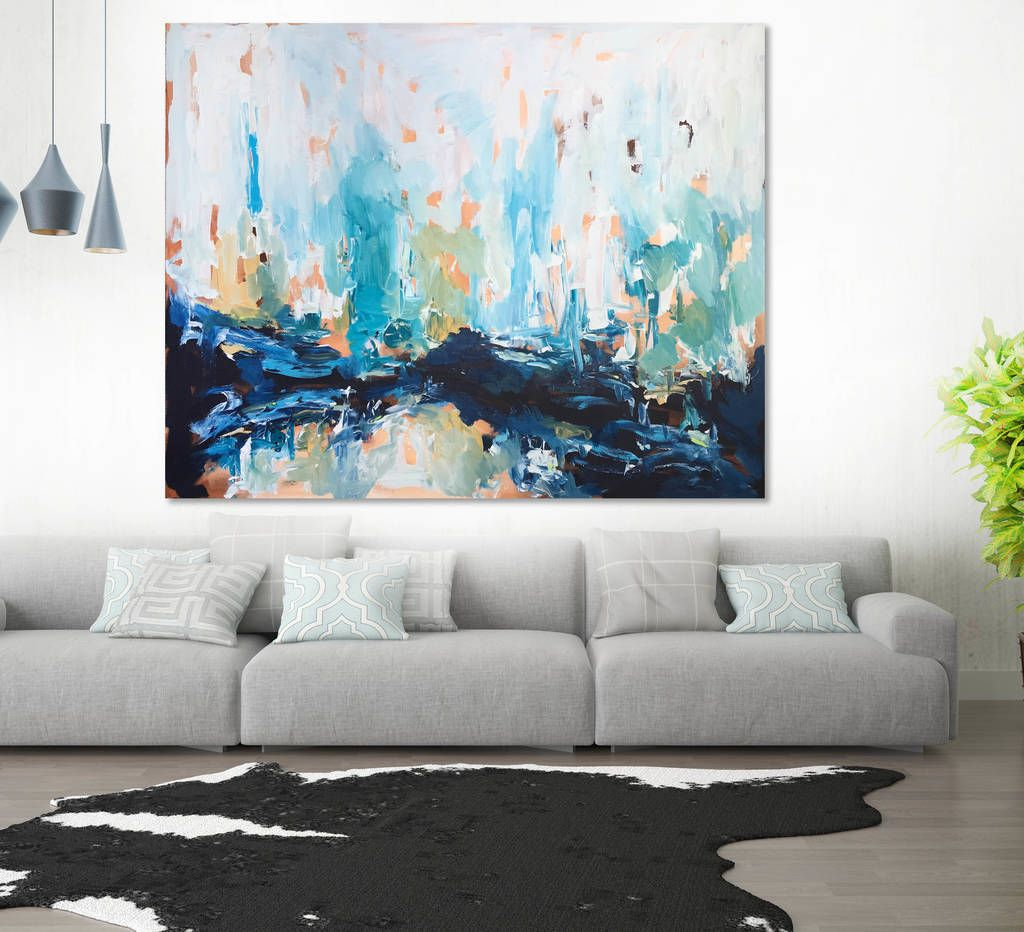 original wall art abstract canvas painting 60 inch in 2019 on modern acrylic paintings for living room id=65443