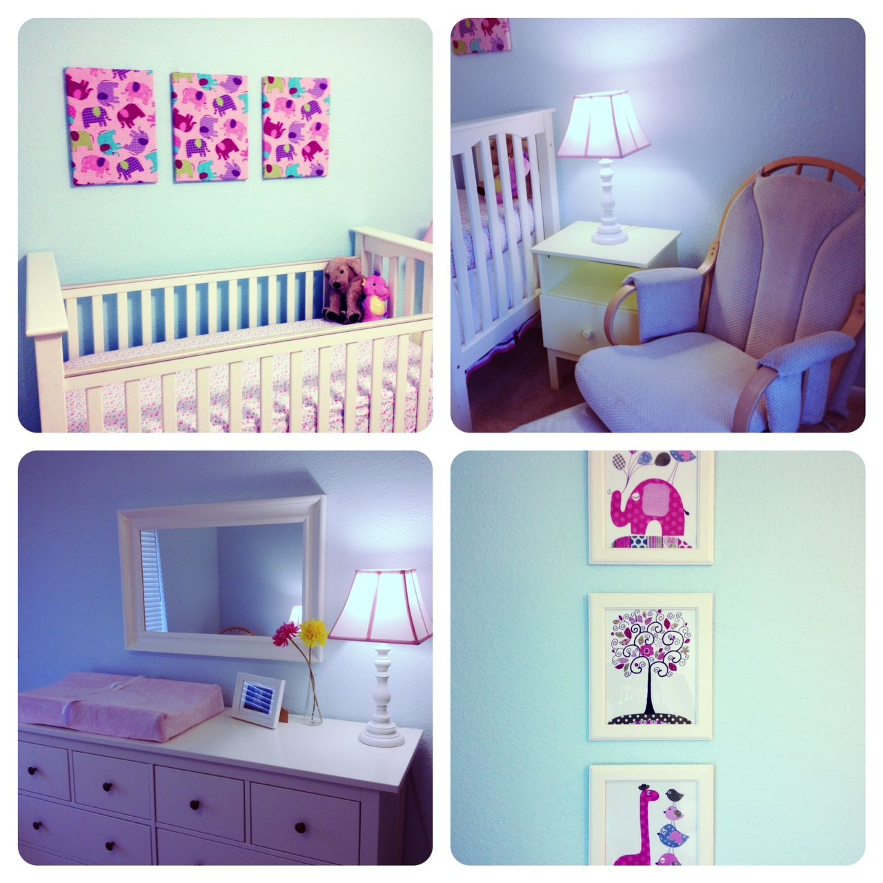 Baby cribs on craigslist - Pottery Barn Kendall Crib Ikea Hemnes Dresser Mirror Diy Material Covered Canvas
