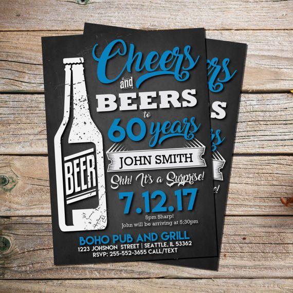 birthday invitations cheers beers invitation surprise birthday