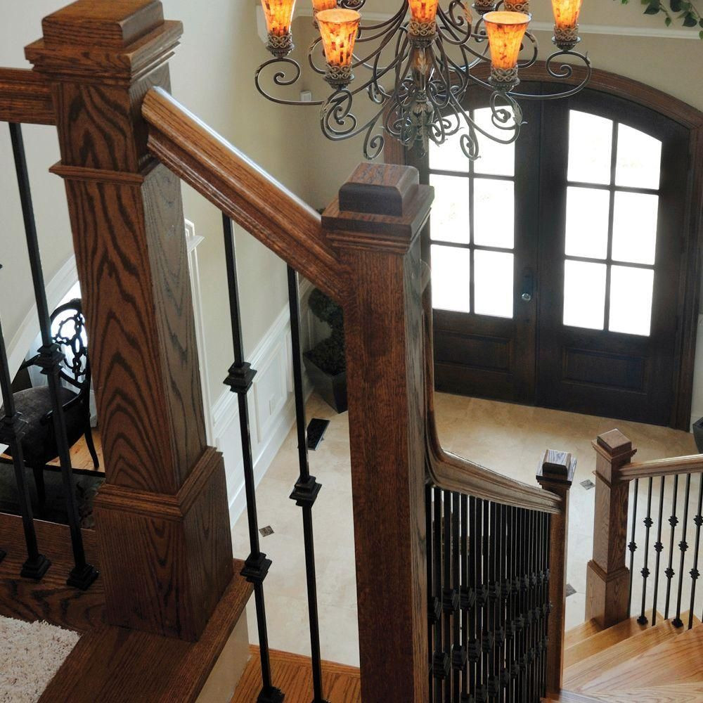 Stair Parts 44 In. X 1/2 In. Satin Black Single Knuckle Metal  Baluster I354D H01 0000D   The Home Depot