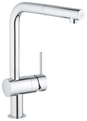 159.93 - Grohe Minta Kitchen Sink Tap L Shape Spout Pull out spray ...