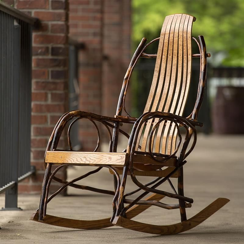Rocking Chair And Nap Sofa By Missonihome: Our Best Rocker, Amish Made; Hickory And Oak. At Lehmans