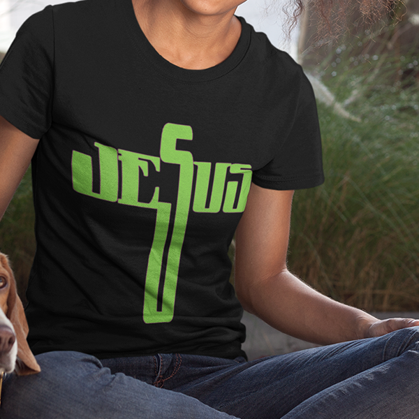 Jesus cross womens Christian t-shirt
