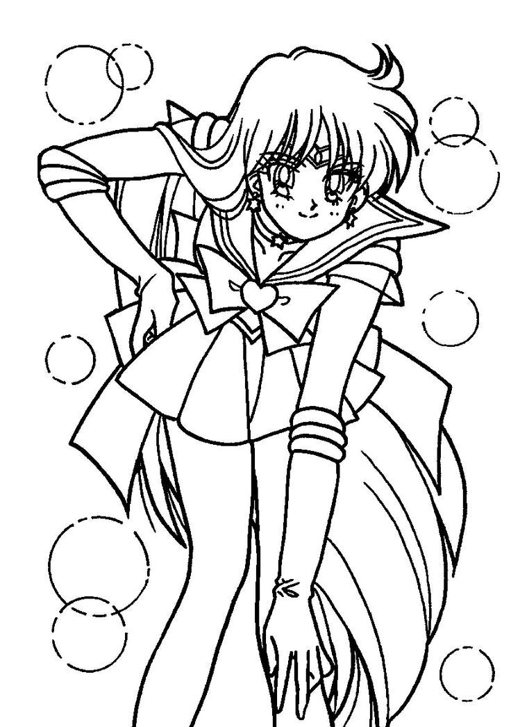 Sailor Mars Smile Coloring Pages For Kids Hbe Printable Sailor Moon Coloring Pages For Kids