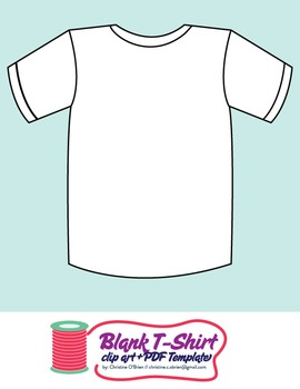 Blank T Shirt Template Clip Art Pdf My Illustrations Clip Art