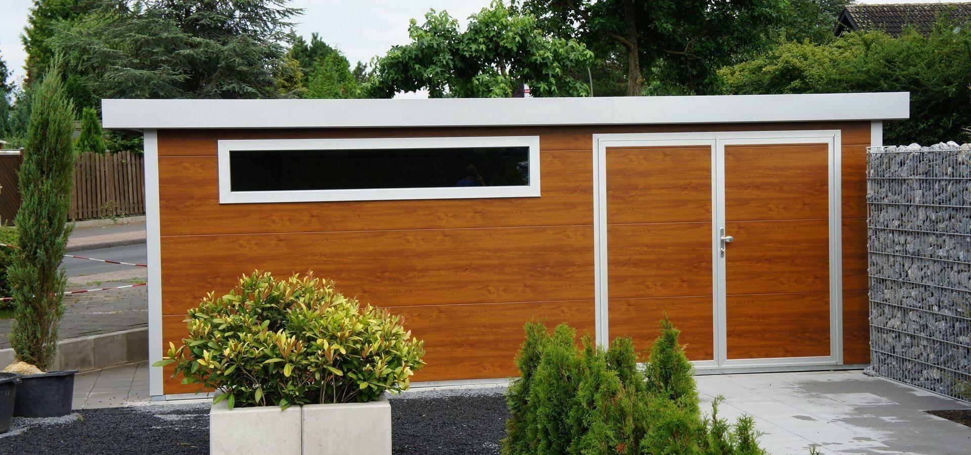 Exklusives Gartenhaus in Holzoptik \