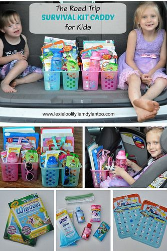 The Road Trip Survival Kit Caddy for Kids