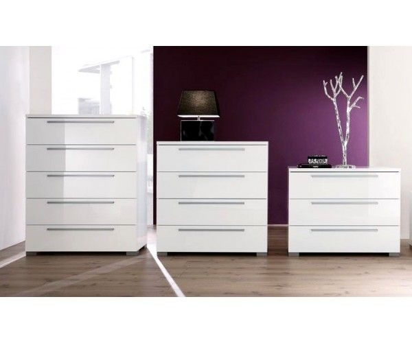 Commode design laqué blanc - Meuble - Commode design laqué blanc