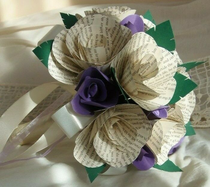 Wedding Bouquet GAME OF THRONES Book Roses Lilac Purple