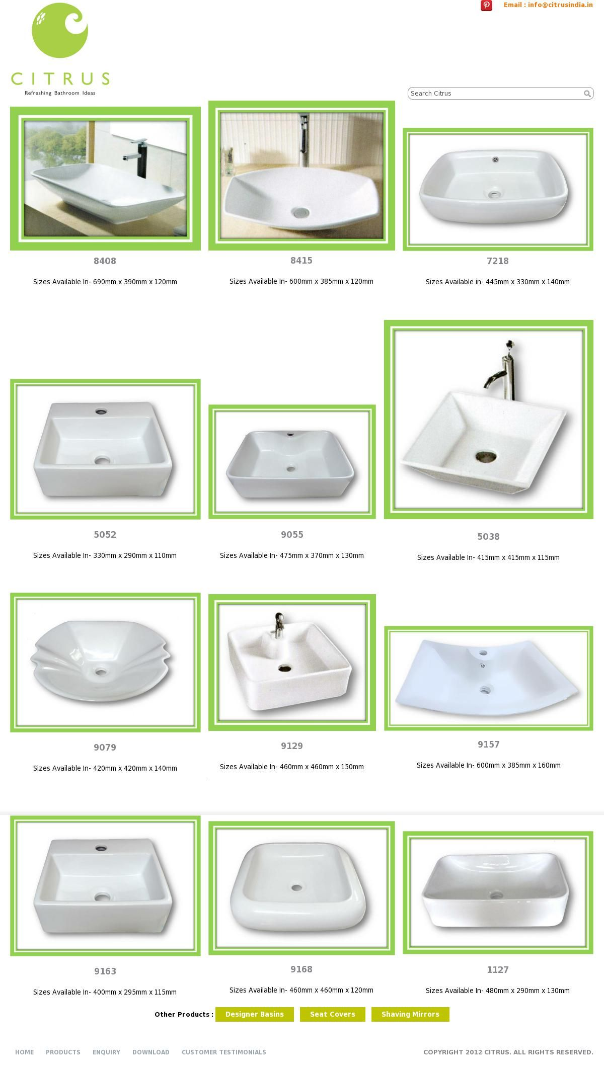 The Website Http Www Citrusindia In White Basins Courtesy Of Pinstamatic Http Pinstamatic Com Citrus Bathroom Wash Basin Basin Sink