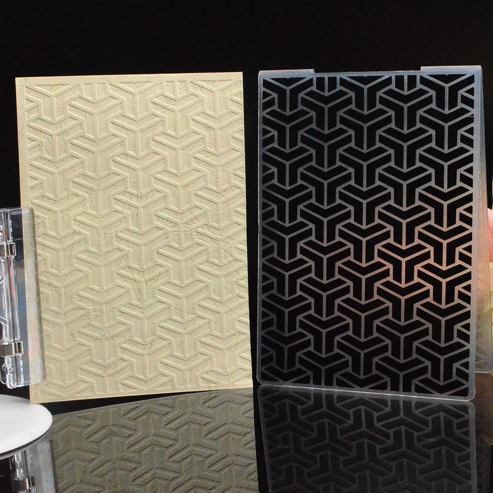 DIY Embossing Folder Plastic Template Scrapbooking Paper Cards Decor Crafts Gift